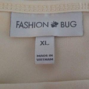 Fashion Bug Tops - FASHION BUG IVORY CAMISOLE SIZE XL